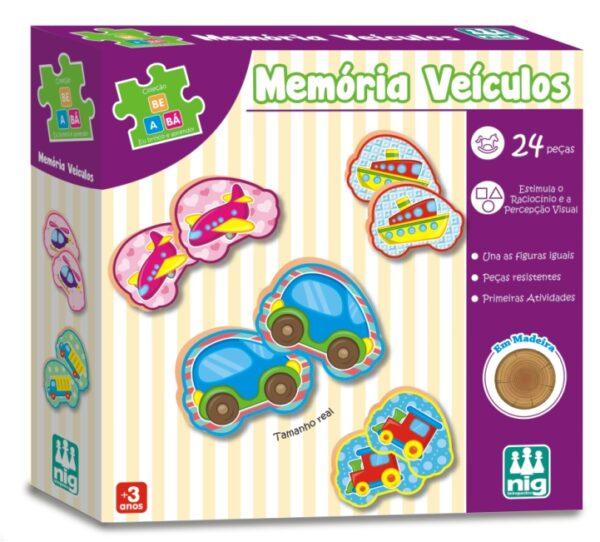 Memória Veículos - NIG BRINQUEDOS - Caixa