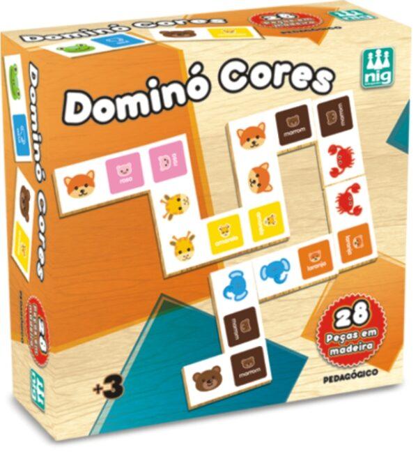 DOMINÓ CORES - CAIXA | NIG BRINQUEDOS