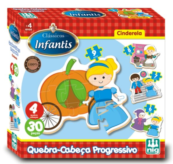 QC Progressivo Cinderela - Caixa | NIG Brinquedos