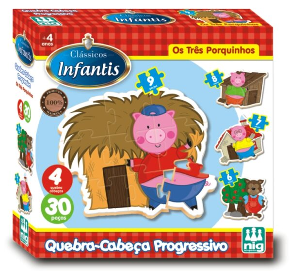 QC PROGRESSIVO TRÊS PORQUINHOS - Caixa | NIG Brinquedos