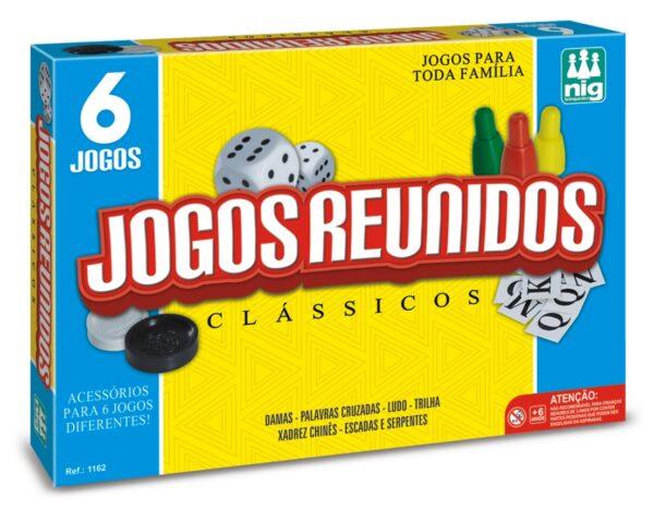 6 JOGOS REUNIDOS - CAIXA | NIG BRINQUEDOS