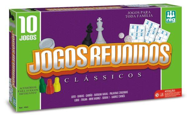 10 JOGOS REUNIDOS - CAIXA | NIG BRINQUEDOS
