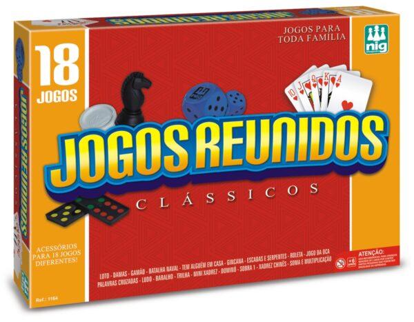 18 JOGOS REUNIDOS CAIXA | NIG BRINQUEDOS