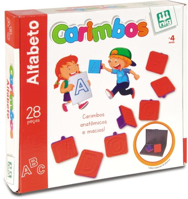 CARIMBOS ALFABETOS - CAIXA | NIG BRINQUEDOS