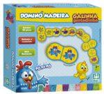 DOMINÓ MADEIRA GALINHA PINTADINHA - CAIXA | NIG BRINQUEDOS