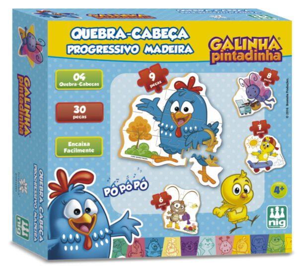 QC PROGRESSIVO MADEIRA GALINHA PINTADINHA - CAIXA | NIG BRINQUEDOS