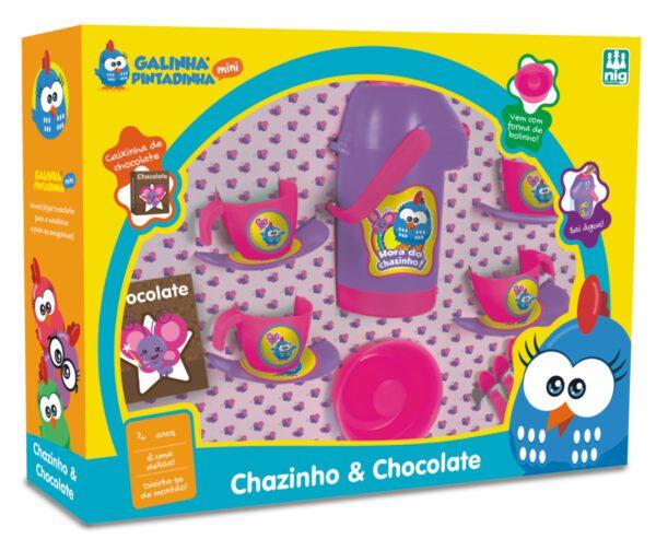 CHAZINHO & CHOCOLATE GALINHA PINTADINHA MINI - CAIXA | NIG BRINQUEDOS