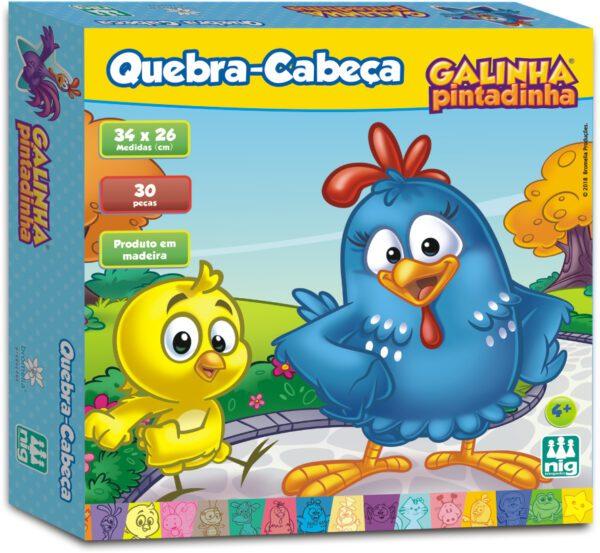 QC MADEIRA GALINHA PINTADINHA - CAIXA | NIG BRINQUEDOS