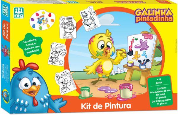KIT DE PINTURA GALINHA PINTADINHA - CAIXA | NIG BRINQUEDOS
